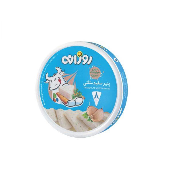 پنیر سفید مثلثی با سیر و سیزیجات روزانه 8 عددی